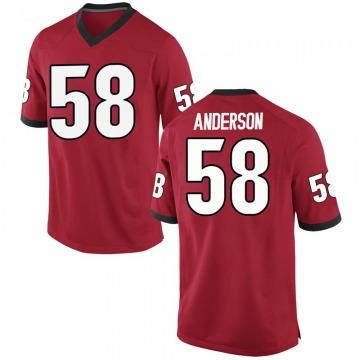 Men's Blake Anderson Georgia Bulldogs Nike Replica Red Football College Jersey