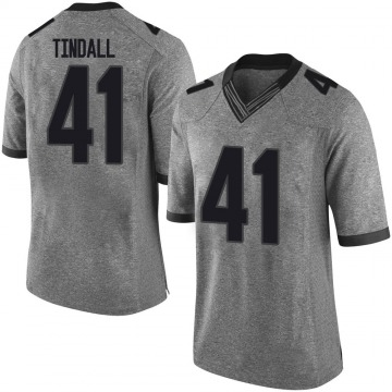 Men's Channing Tindall Georgia Bulldogs Limited Gray Football College Jersey