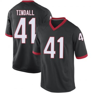 Men's Channing Tindall Georgia Bulldogs Replica Black Football College Jersey
