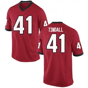 Men's Channing Tindall Georgia Bulldogs Replica Red Football College Jersey