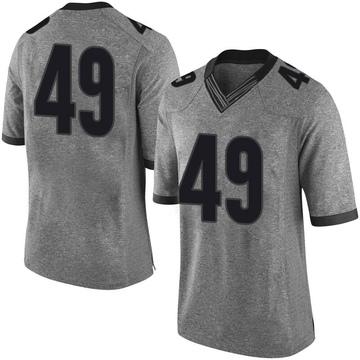 Men's Darius Jackson Georgia Bulldogs Nike Limited Gray Football College Jersey