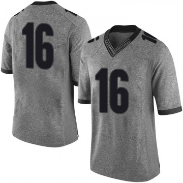 Men's Demetris Robertson Georgia Bulldogs Limited Gray Football College Jersey