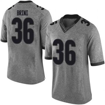 Men's Latavious Brini Georgia Bulldogs Nike Limited Gray Football College Jersey