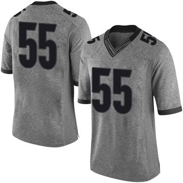 Men's Miles Miccichi Georgia Bulldogs Nike Limited Gray Football College Jersey