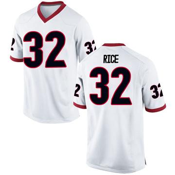 Men's Monty Rice Georgia Bulldogs Nike Game White Football College Jersey