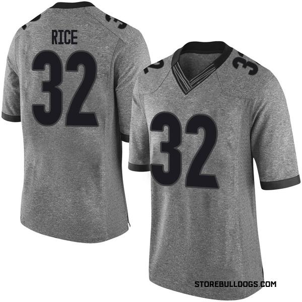 Men's Monty Rice Georgia Bulldogs Nike Limited Gray Football College Jersey