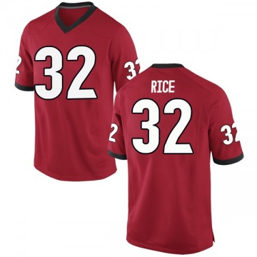 Men's Monty Rice Georgia Bulldogs Nike Replica Red Football College Jersey