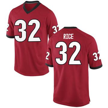 Men's Monty Rice Georgia Bulldogs Nike Replica Red Football College Jersey
