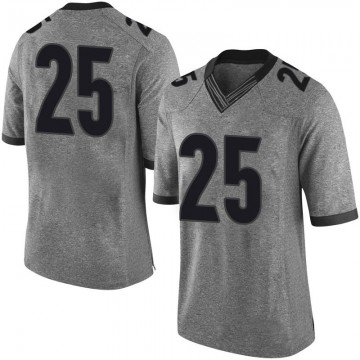 Men's Quay Walker Georgia Bulldogs Limited Gray Football College Jersey