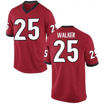 Men's Quay Walker Georgia Bulldogs Replica Red Football College Jersey