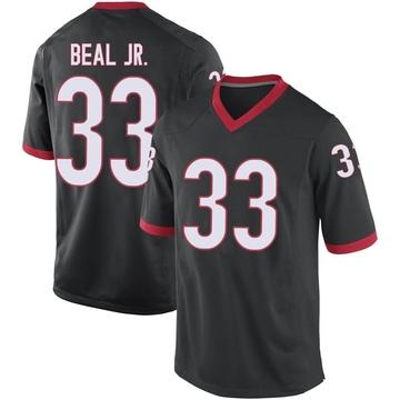 Men's Robert Beal Jr. Georgia Bulldogs Replica Black Football College Jersey
