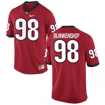 Men's Rodrigo Blankenship Georgia Bulldogs Nike Game Red Football Jersey -
