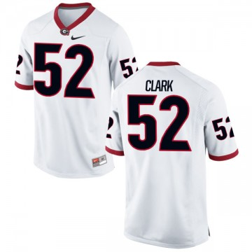 Men's Tyler Clark Georgia Bulldogs Nike Game White Football Jersey -