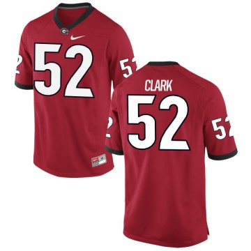 Men's Tyler Clark Georgia Bulldogs Nike Limited Red Football Jersey -