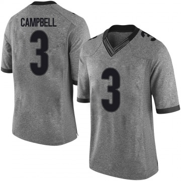 Men's Tyson Campbell Georgia Bulldogs Limited Gray Football College Jersey