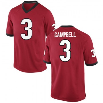 Men's Tyson Campbell Georgia Bulldogs Nike Replica Red Football College Jersey