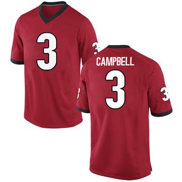 Men's Tyson Campbell Georgia Bulldogs Nike Replica Red Football College Jersey