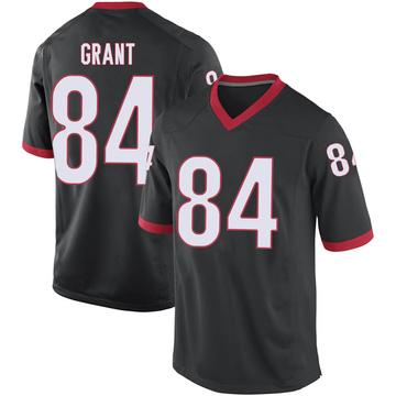 Men's Walter Grant Georgia Bulldogs Replica Black Football College Jersey