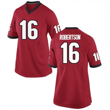 Women's Demetris Robertson Georgia Bulldogs Replica Red Football College Jersey