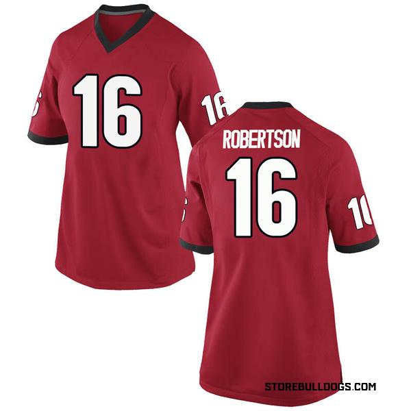 Women's Demetris Robertson Georgia Bulldogs Nike Replica Red Football College Jersey