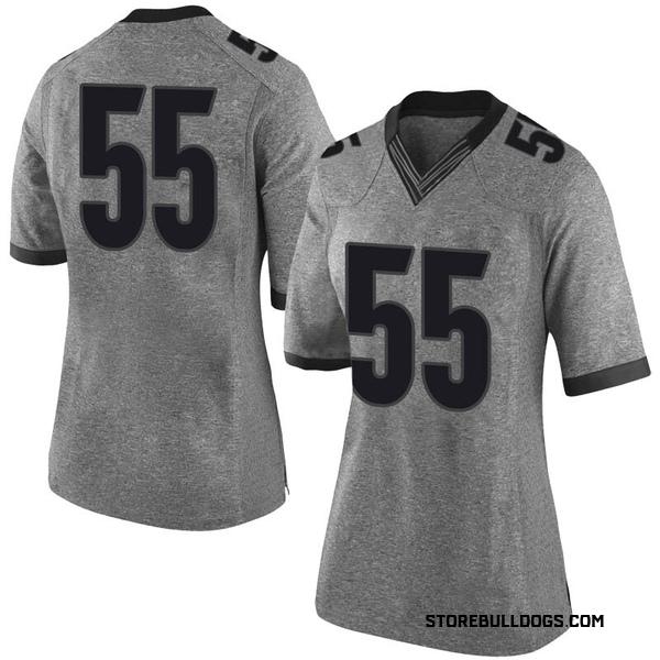 Women's Miles Miccichi Georgia Bulldogs Nike Limited Gray Football College Jersey
