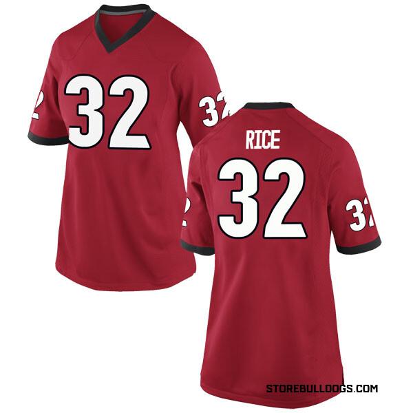 Women's Monty Rice Georgia Bulldogs Nike Game Red Football College Jersey