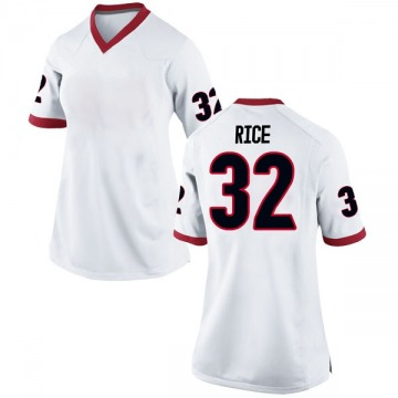 Women's Monty Rice Georgia Bulldogs Nike Game White Football College Jersey