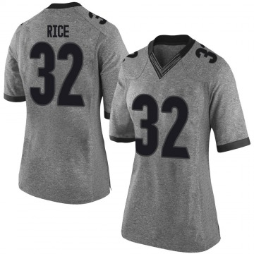 Women's Monty Rice Georgia Bulldogs Nike Limited Gray Football College Jersey