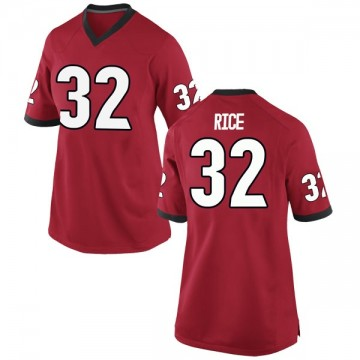 Women's Monty Rice Georgia Bulldogs Nike Replica Red Football College Jersey