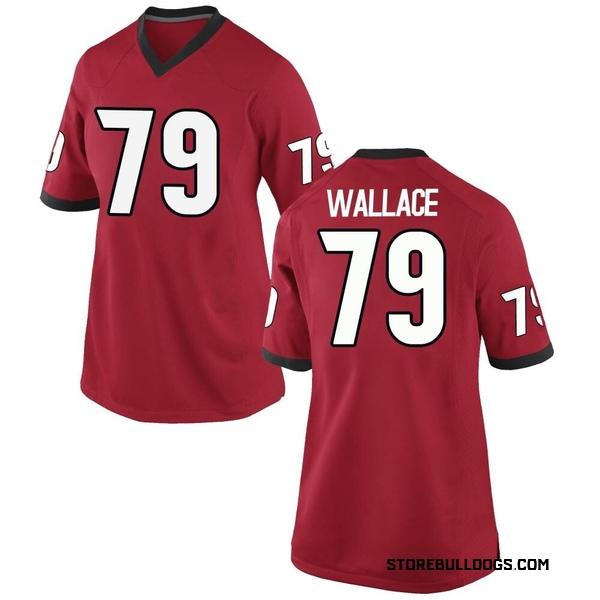 Women's Weston Wallace Georgia Bulldogs Nike Game Red Football College Jersey