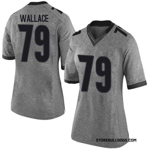 Women's Weston Wallace Georgia Bulldogs Nike Limited Gray Football College Jersey