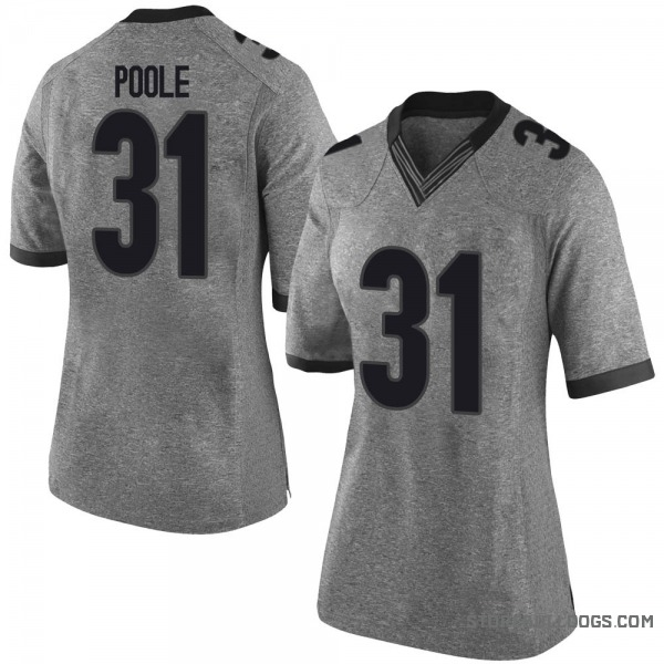 Women's William Poole Georgia Bulldogs Nike Limited Gray Football College Jersey