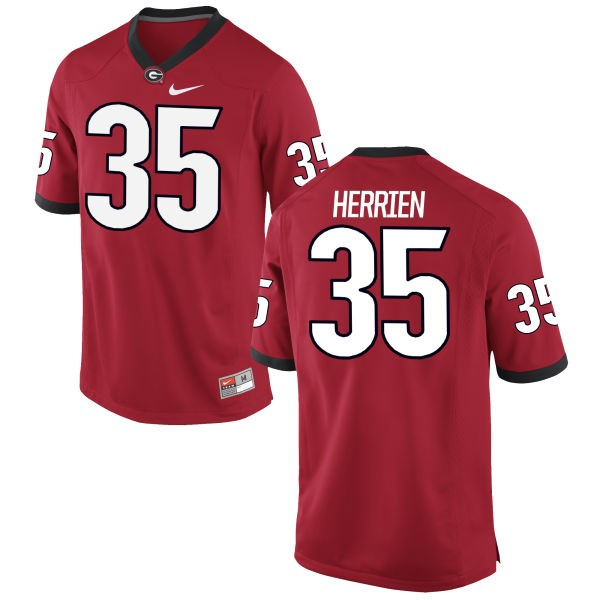 Youth Brian Herrien Georgia Bulldogs Nike Limited Red Football Jersey -