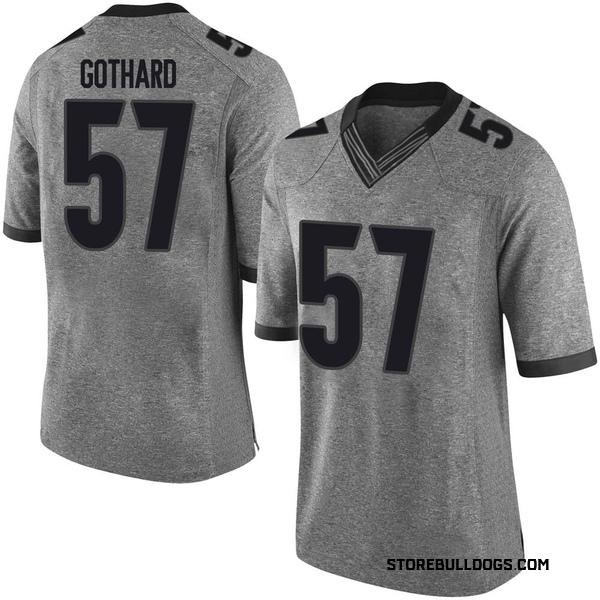 Youth Daniel Gothard Georgia Bulldogs Nike Limited Gray Football College Jersey