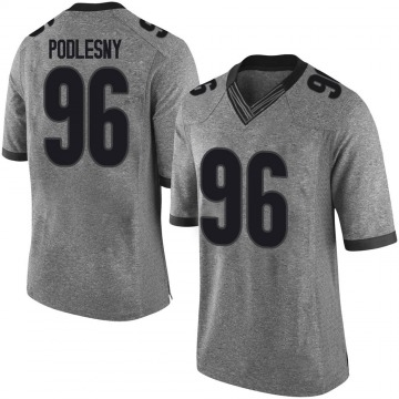 Youth Jack Podlesny Georgia Bulldogs Limited Gray Football College Jersey