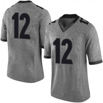 Youth Tommy Bush Georgia Bulldogs Limited Gray Football College Jersey