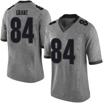Youth Walter Grant Georgia Bulldogs Limited Gray Football College Jersey